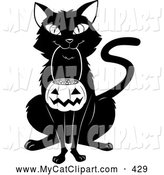 Royalty Free Halloween Stock Cat Designs.