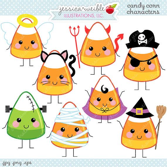 Halloween Clipart Cute Candy Corn.