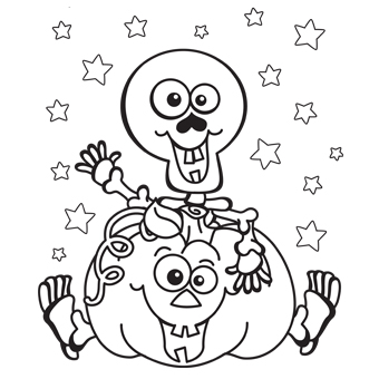 Kids Halloween Coloring Pages.