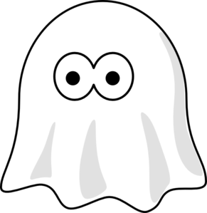 Cute Halloween Ghosts Clipart.