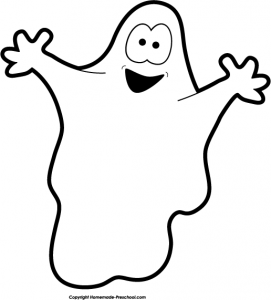 Cute Halloween Ghost Clipart.