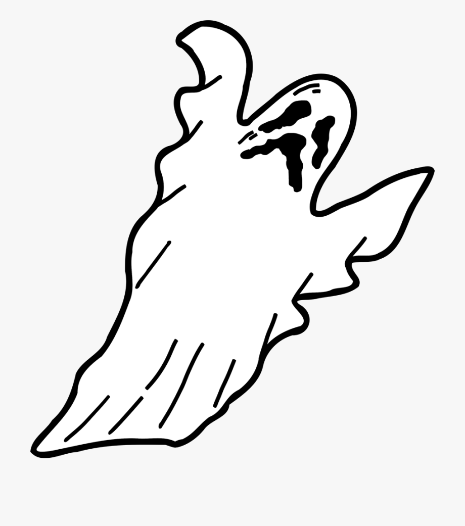 Ghost Happy Halloween Clipart Image.