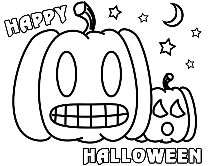 Happy Halloween Coloring Pages.