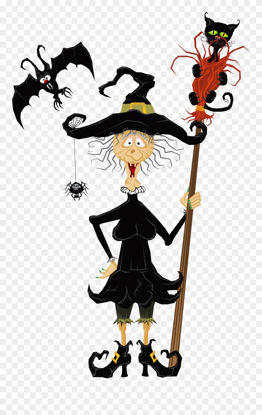 Halloween Creepy Witch Clipart.