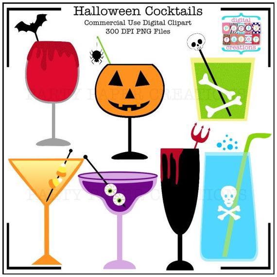 Halloween Clipart Halloween Cocktails.
