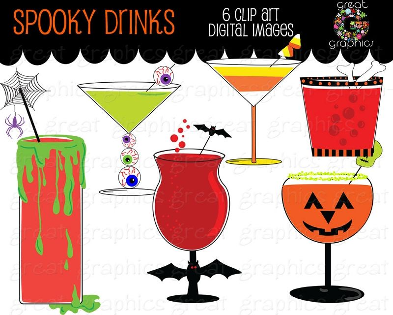 Halloween Clipart Halloween Party Printable Cocktail Drink Clip Art.