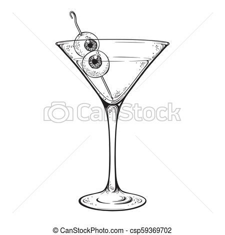 Martini with eyeballs.