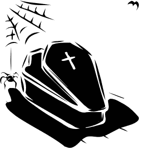619 Coffin free clipart.