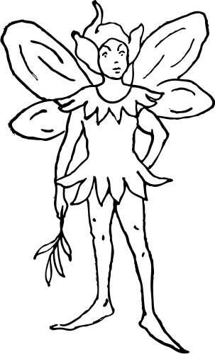 Fairy Clipart Black And White & Fairy Black And White Clip Art.