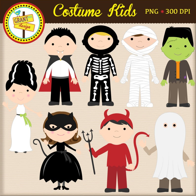 Halloween Costume Clipart.