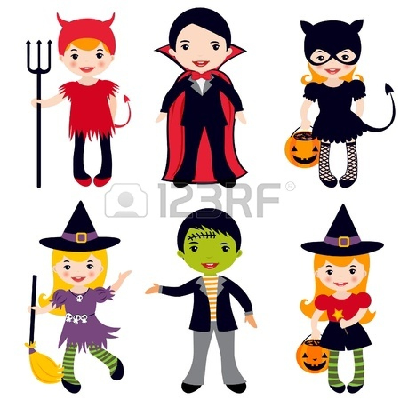 Free Halloween Costumes Clipart Kids.