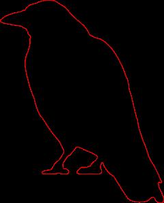 Crow Silhouette Clip Art cutout for Halloween.