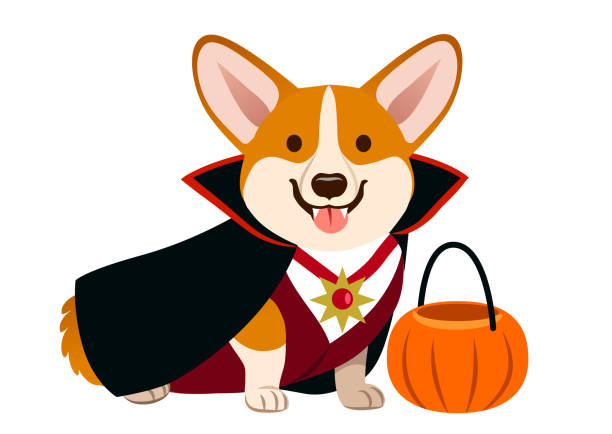 Best Halloween Dog Illustrations, Royalty.