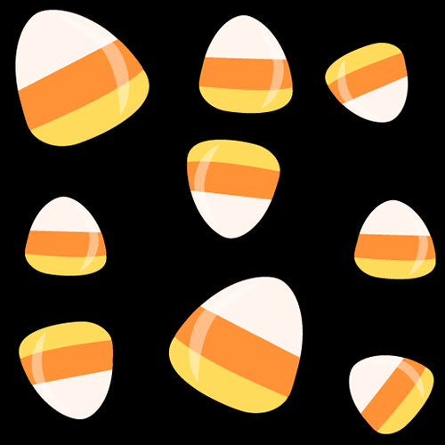 Candy corn background.