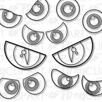 Halloween Spooky Eyes Clip Art (Digital Use Ok!).