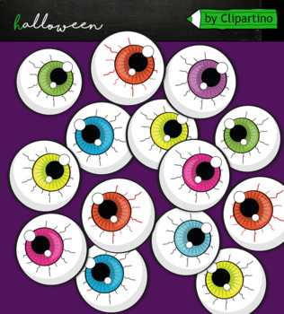 Spooky Halloween eyes clipart commercial use.