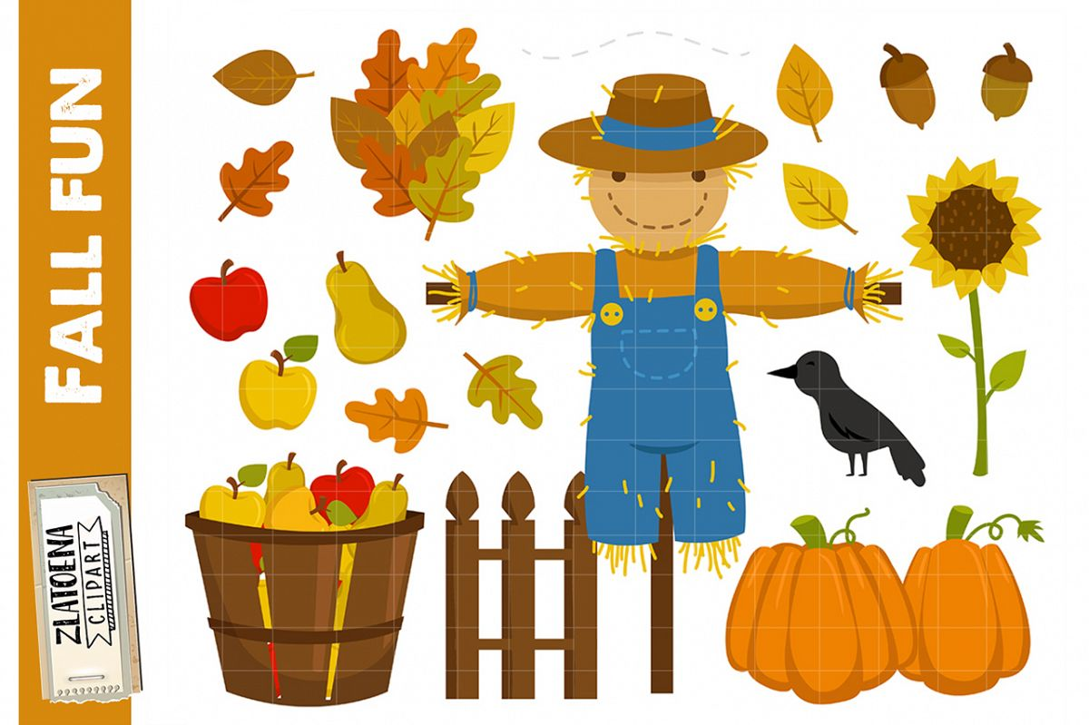 Fall Clip art Autumn Clipart Pumpkin Thanksgiving Halloween.