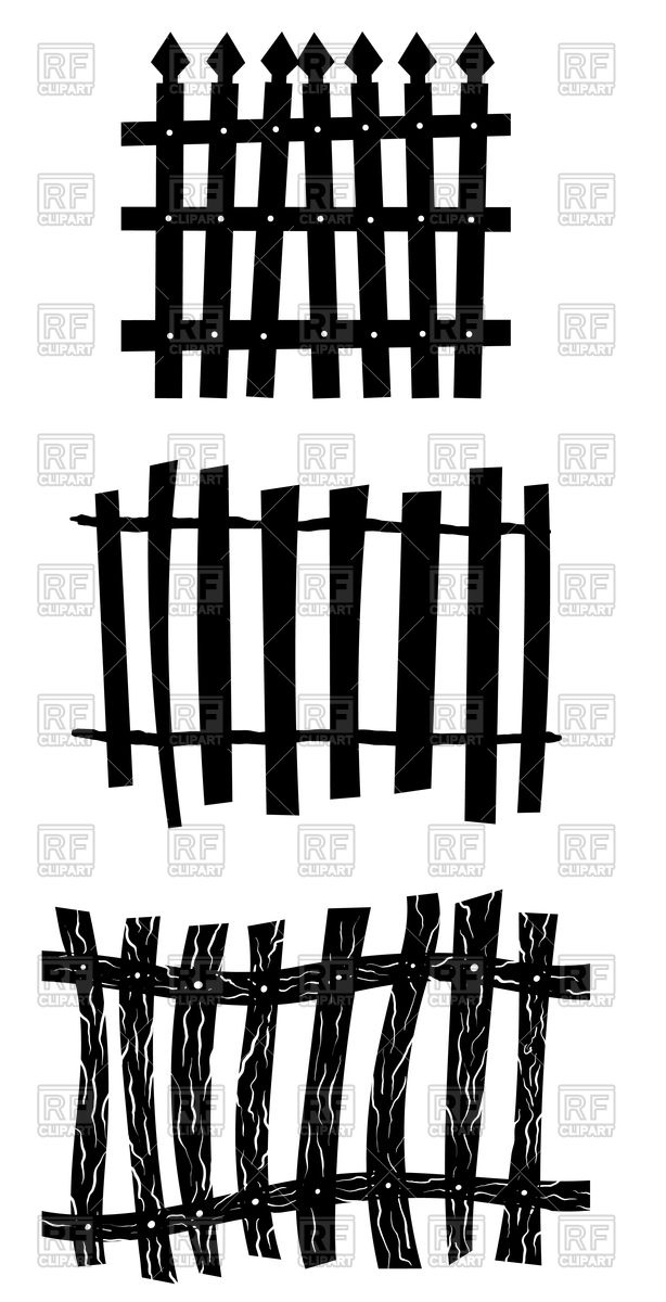 Halloween fence set Stock Vector Image.