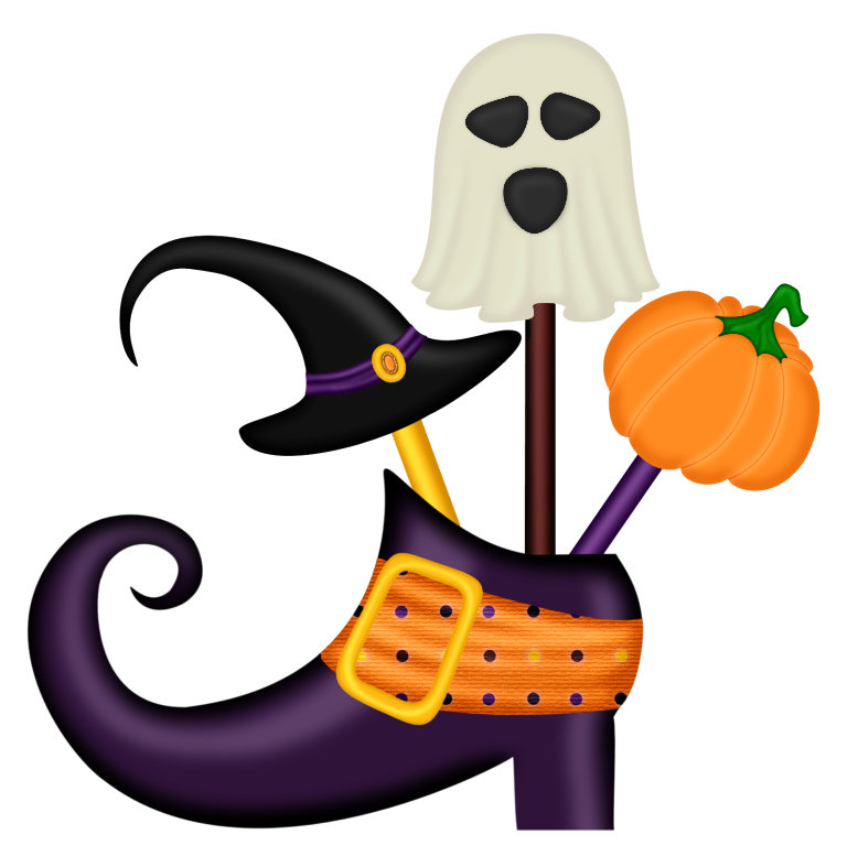 Halloween Witch Shoe Decor PNG Clipart.