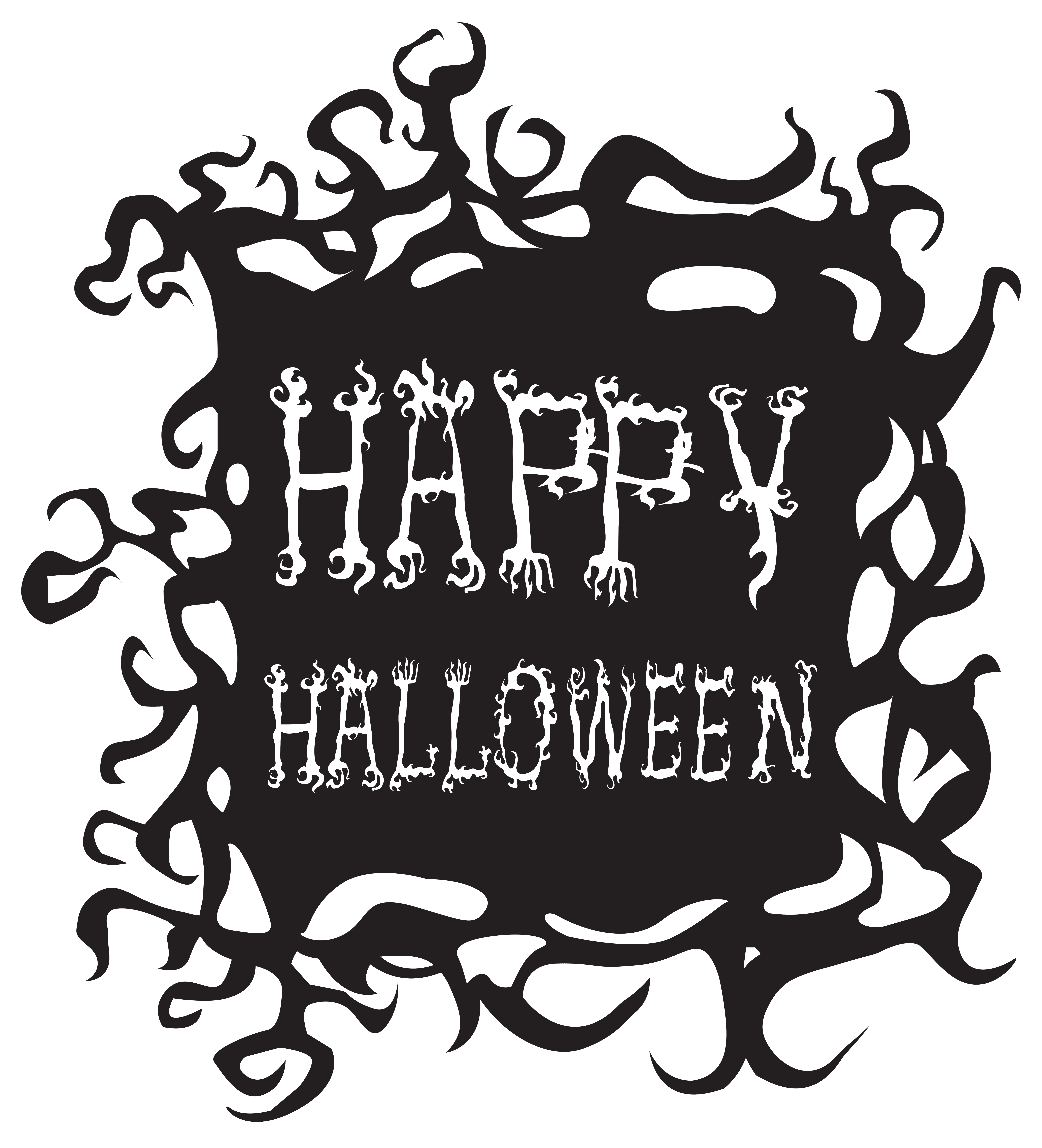 Happy Halloween PNG Free Clip Art Image.