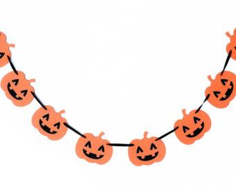 Halloween Garland Clipart.