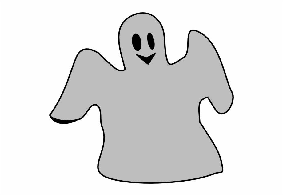 Halloween Ghost Clip Art Gray Ghost.
