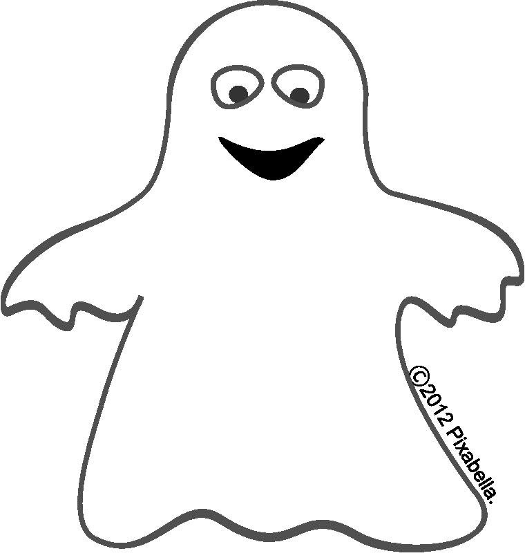 Cute Halloween Ghost Clipart.