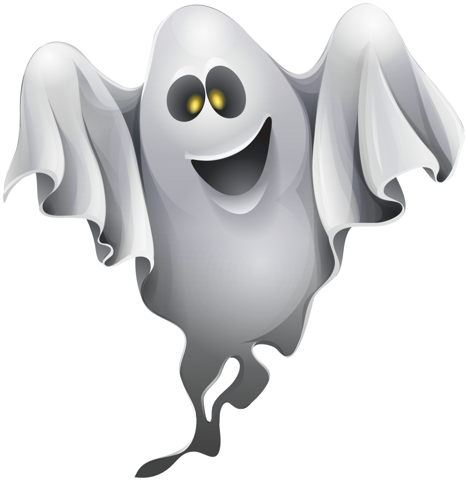 Halloween Ghost Clipart PNG Image.