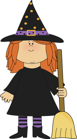 Girl Witch Clipart.