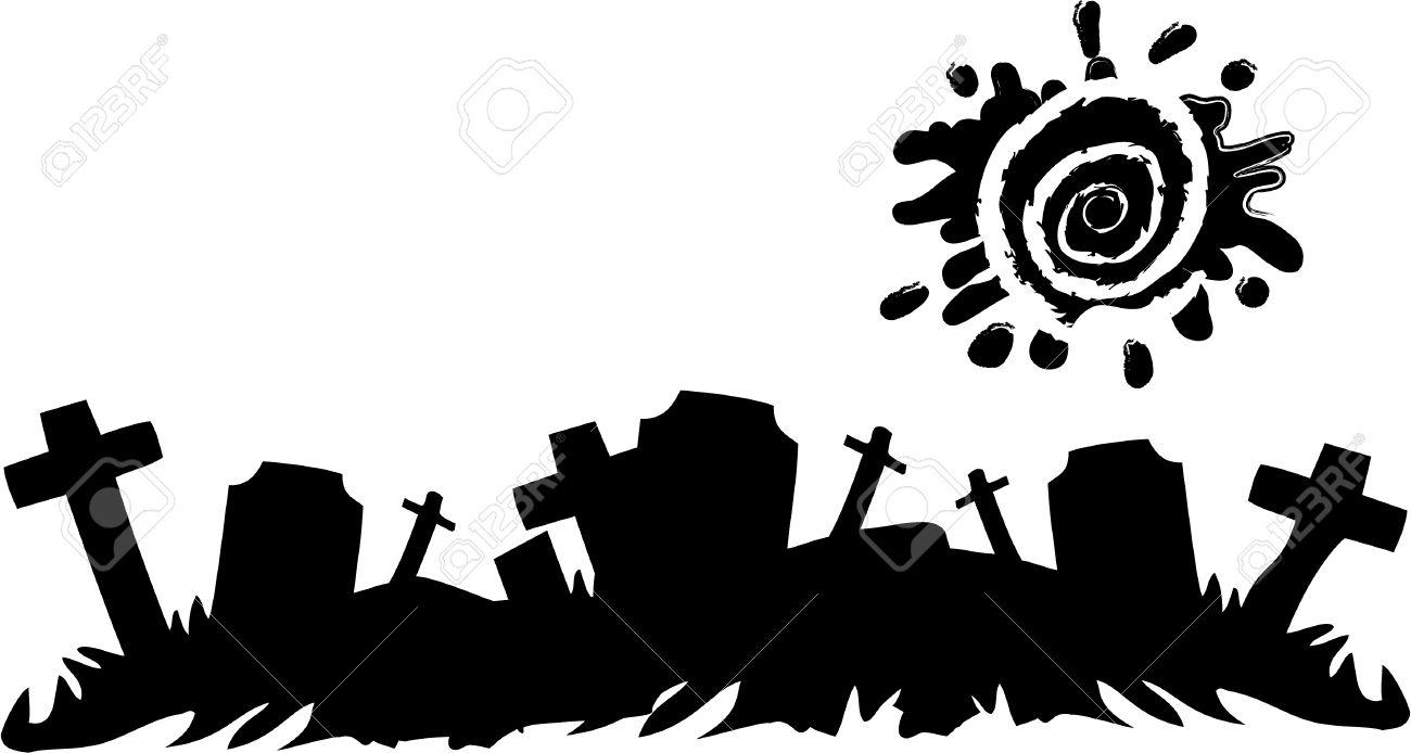 the vector halloween cemetery banner.