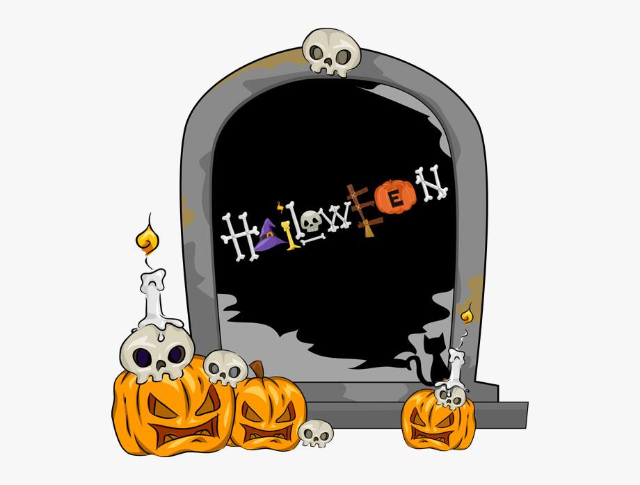 28 Collection Of Halloween Gravestones Clipart.