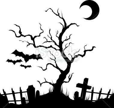 vector silhouette graveyard.Download includes EPS 8 and CS3.