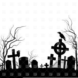Halloween Graveyard Clipart.