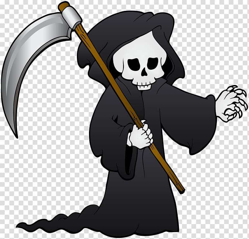 Angel of Death , Death , Creepy Grim Reaper transparent.