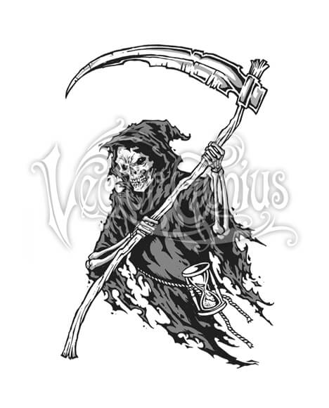 Scary Halloween Grim Reaper ClipArt.