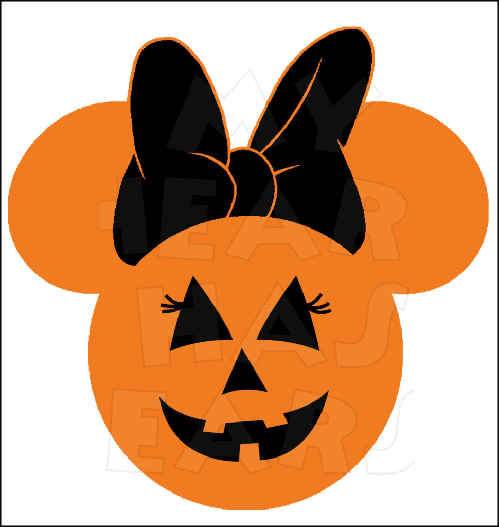 Minnie Mouse Pumpkin Jack O Lantern INSTANT DOWNLOAD Halloween.