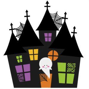 Halloween house clipart.