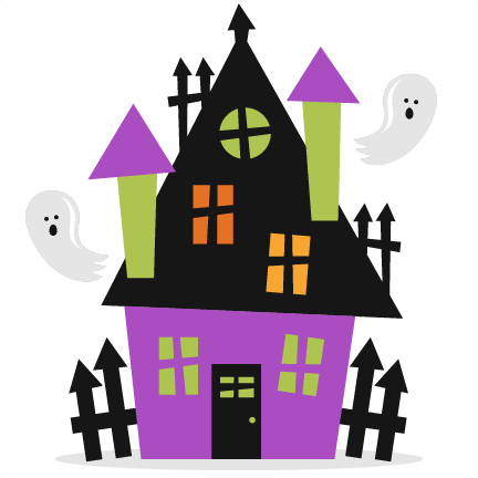 Haunted house word clipart.