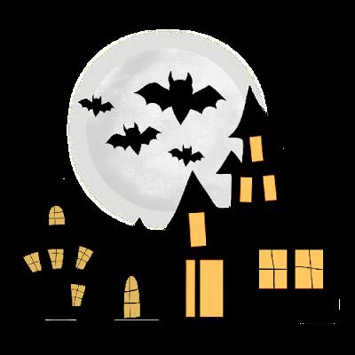 Showing post & media for Cartoon halloween house clip art.