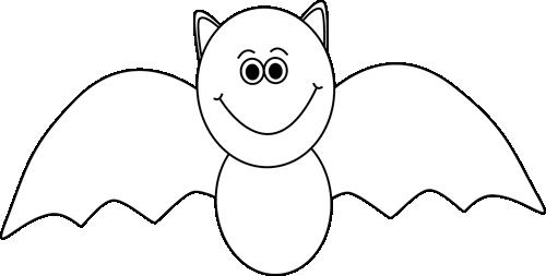 Black and white Halloween bat..