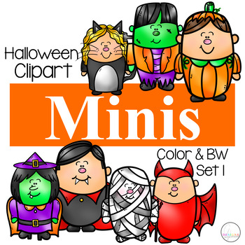 Minis Halloween Set 1 {Kid Clipart}.