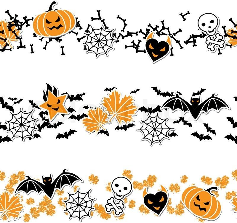 halloween borders and lines clip art.