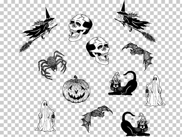 Sketch Visual arts Illustration Line art, halloween webs PNG.