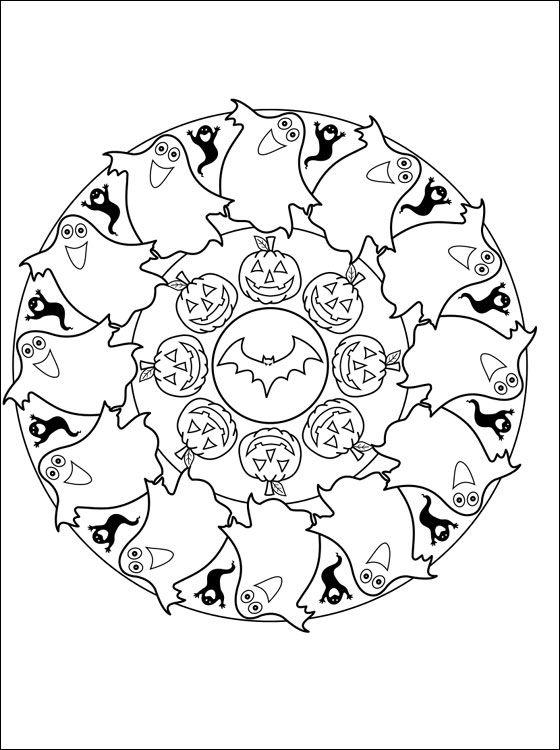 Halloween Mandala Clipart Clipground