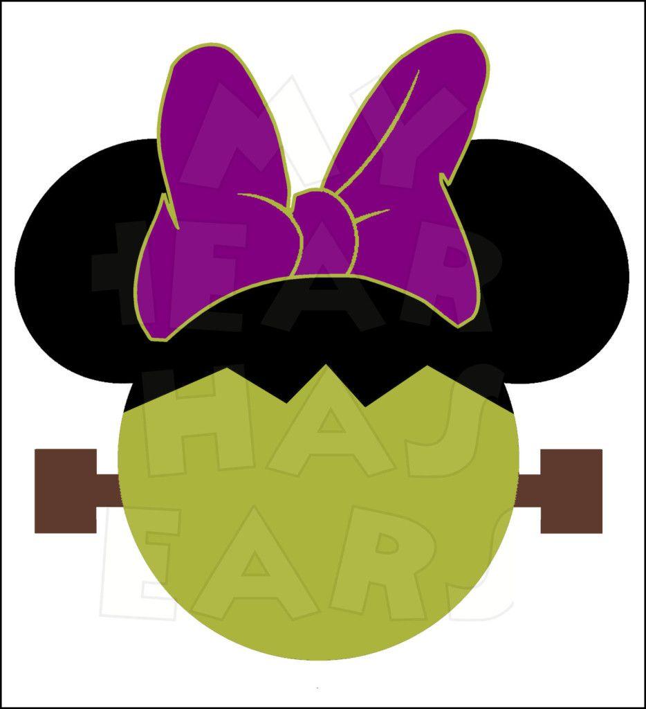 Minnie Mouse Frankenstein INSTANT DOWNLOAD Halloween digital.