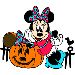 Halloween minnie mouse clipart.