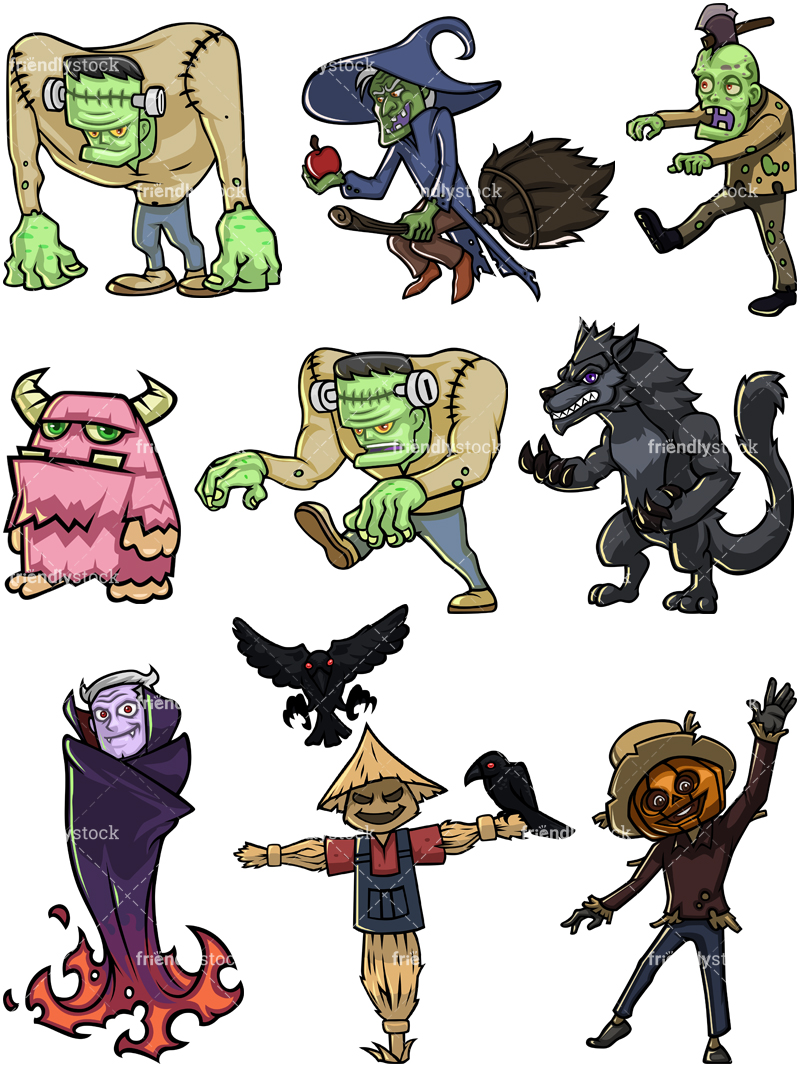 Halloween Characters Collection #3.