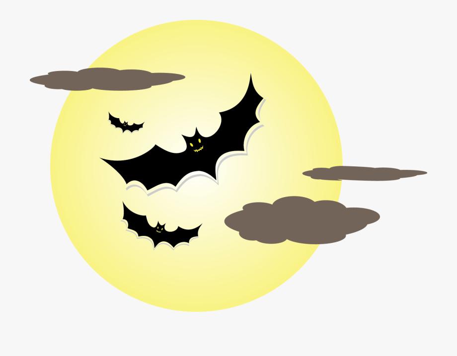 Bat Moon Png Photo.