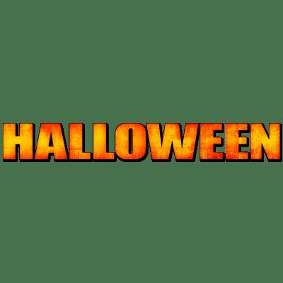 Halloween Logo transparent PNG.