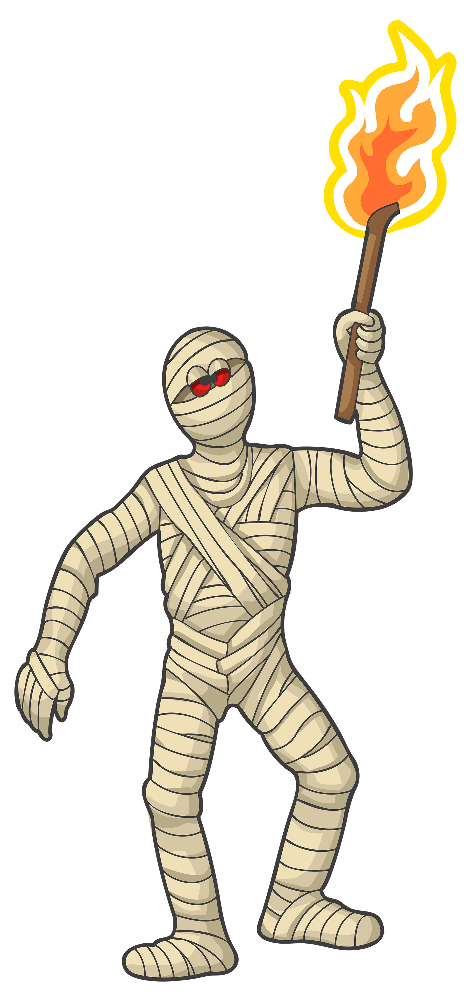 Halloween Mummy PNG Clipart Image.
